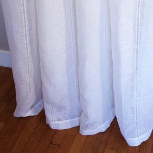 rideau pur lin grande largeur