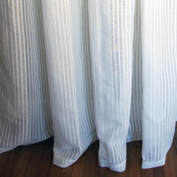 rideau lin coton grande largeur