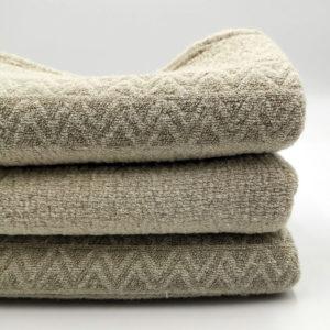 drap de bain serviette en lin lave tissage gaufree couleur beige