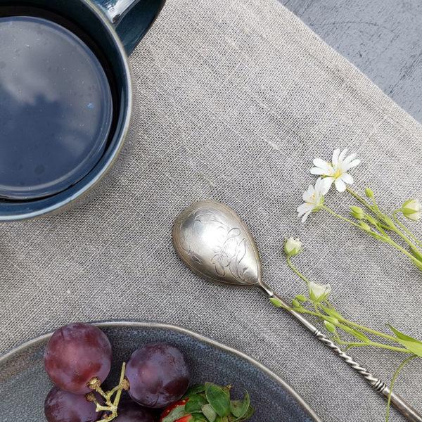 set de table en pur lin couleur lin naturel